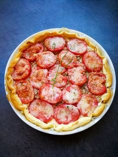 Tarte au thon, St Môret, tomates