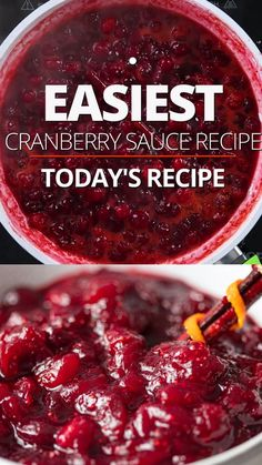 Thanksgiving Recipes, Fall Recipes, Holiday Recipes, Thanksgiving Cranberry Sauce, Best Cranberry Sauce, Fresh Cranberry Recipes, Sugar Free Cranberry Sauce, Cranberry Salsa, Chipotle