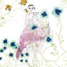 Illustration.......Tu Es Jolie by christahoward. Explore more products on http://christahoward.etsy.com