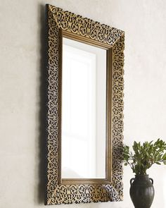 Laser-Cut Wood Frame Mirror by Maitland-Smith at Horchow.