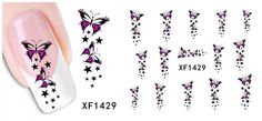1 Set Goodly Popular Nail Art Stickers Decoration 3D Decor Color Design Pattern Code XF1429 >>> You can find more details by visiting the image link.