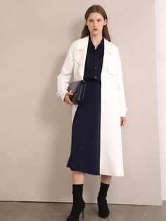 Brand Name: Amii Sleeve Length(cm): Full Gender: WOMEN Style: Office Lady Material: Polyester Material: Spandex Outerwear Type: Trench Pattern Type: Solid Clothing Length: long Age: Ages 18-35 Years Old Model Number: 12070399 Collar: Turn-down Collar Type: Wide-waisted