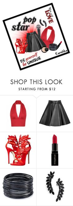 """""""Pop Star"""" by kornitka ❤ liked on Polyvore featuring MSGM, Giuseppe Zanotti, Smashbox, ABS by Allen Schwartz, Cristabelle, MAC Cosmetics, thevoice and YahooView"""