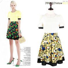 Free Shipping A-line Short Sleeves Chiffon Dress O-neck Short Mini Printed Skirt Women Summer Dress Lady One-piece Dress 2Colors $23.80