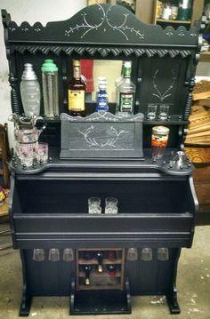 Repurposed Pump Organ Bar by ReduxStudios on Etsy