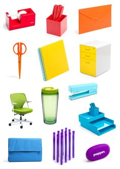 Poppin.com - I have never given up my childhood love of office supplies--   a cube makeover is in order.  I love the colors.