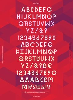 Canada™ Typeface by Anthony Neil Dart, via Behance