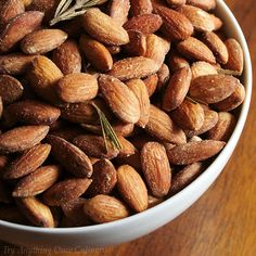 Rosemary and sea salt roasted almonds add a hint of seasoning to the almonds, leaving their flavor and crunch to be savored!