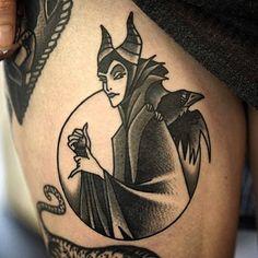 Maleficent done by @philipyarnelltattoos #InkedDisney