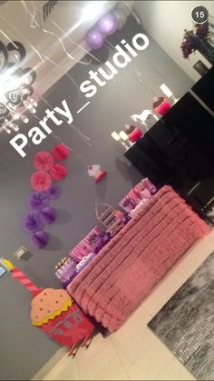 Decoration First birthday party by party studio kuwait Pinterest