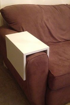 Wooden drink arm sleeve - For a small livingroom with minimal space for an end-table.
