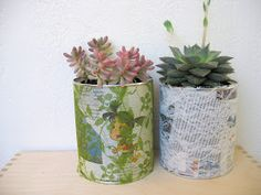 Ef Zin Creations: DIY - Recycling Project, Flower Pot from Tin Cans