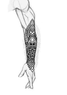 Blackwork forearm sleeve mandala ornamental bold lines tattoo design. Follow me on my blog to join all my tips and tricks about tattoos.