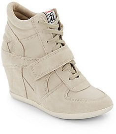 Beige Suede Wedge Sneakers by Ash. Buy for $154 from Off 5th