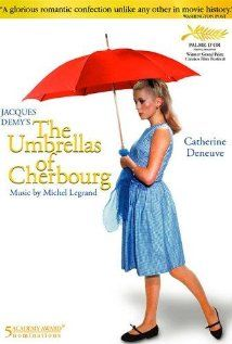 """""""The Umbrellas Of Cherbourg (aka Les Parapluies De Cherbourg)"""" (dir. Jacques Demy, French Language, 1964) --- An umbrella shop girl (Catherine Deneuve) is separated from her mechanic boyfriend when he is called for military service. Alone, she faces a life altering decision."""