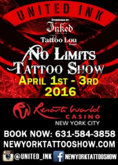 New York, États-Ink Tattoo Show actions 43Awesome 01 - 03 Avril 2016
