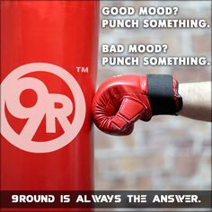It doesn't matter what type of mood you're in, 9Round is ALWAYS the answer!    Frequent trips to 9Round will increase your stamina, muscle tone, AND your mood. Not to mention, you'll look great and learn a little kickboxing in the process!  So this Wednesday, whether you're bursting with energy or just need to blow off a little steam, grab your gloves and get your 9 rounds in!  #9Round #9Rounder #Fitness #Healthy #GetFit #PunchSomething #GlovesOn