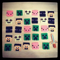 Minecraft hama beads by nananas