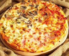 Receta de Pizza cuatro estaciones de dificultad Media para 2 personas lista en 20 minutos.