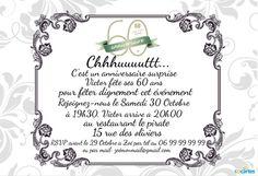 Carte D Invitation Anniversaire 60 Ans Gratuite Anniversaire Lisaoycwilson Site