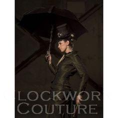 """Clockwork Couture's 2 piece traveling suit - as seen on the cover of Gail Carriger's """"Souless."""""""