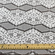 Off White Eyelash Floral Lace Fabric by the yard or by LaceFabrics