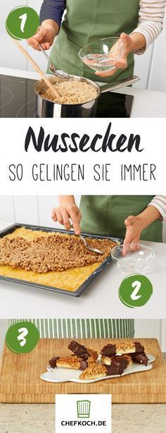 Nussecken Home Inspiration my inspiration at home recipes Baking Recipes, Dessert Recipes, Appetizer Recipes, Cookie Recipes, German Baking, Sweet Bakery, Cookies, Christmas Baking, Food Inspiration