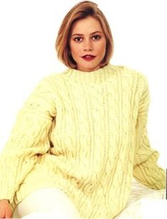 Cable Pullover Sweater Pattern (Knit)