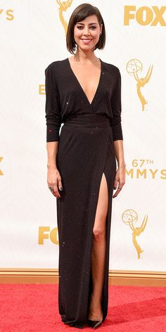 The 7 Celebrities Who Didn't Dress for the 100-Degree Heat at the 2015 Emmys - Aubrey Plaza   - from InStyle.com