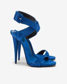 Giuseppe Zanotti Ankle Wrap Suede Sandal