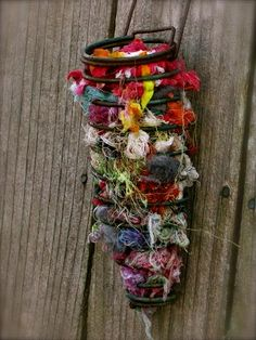 yarn clippings for birds - 236×314