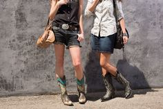Fun Ways To Wear Cowboy Boots With Shorts In Deep H2O