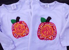 Pumpkin monogram