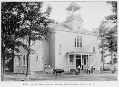 Rural public high school, Severn, Northampton County, NC -- From the 1908-1910 Biennial Report of the Superintendent of Public Instruction of North Carolina ^cs