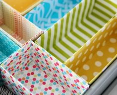 Top Tips UK: Recycling Cardboard Boxes to make Drawer Organisers