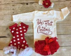 Baby's First Christmas Outfit | Christmas and New Year Celebrations ...