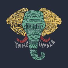 Check out this awesome 'Tame+Impala+Elephant+T-shirt' design on @TeePublic!