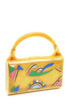 Bakelite painted handbag 1930 from my private collection