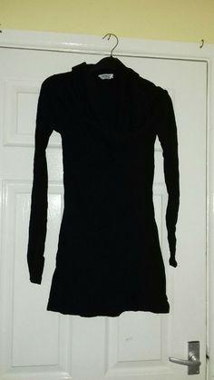 85ca245ab88172 Womens Black Longsleeve Big Neck Top Size 12-14 Primark #fashion #clothing #