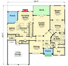 Plan 75413GB: Huge Master Sitting Room