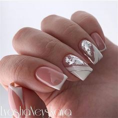 23 Best Gel Nail Designs to Copy in 2019 Pretty Nail Colors, Pretty Nail Designs, Simple Nail Art Designs, Easy Nail Art, Pretty Nails, Oval Nails, Pink Nails, French Nails, French Manicures