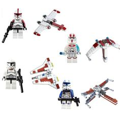 SY STAR WARS 4pcs/lot White Corps Spaceship Clone Building Blocks Minifigures Bricks Action Figures Anime Toys 8starddis