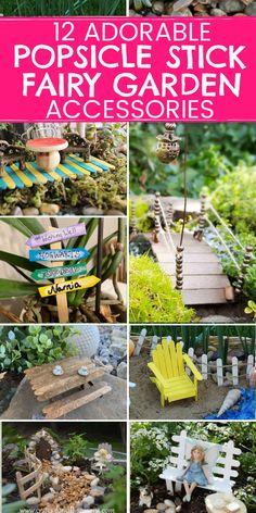Kids Fairy Garden, Fairy Garden Furniture, Garden Ideas Kids, Kids Garden Crafts, Budget Garden Ideas, Creative Garden Ideas, Diy Garden Projects, Fairy Tree Houses, Fairy Garden Houses