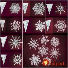 Ideas For Diy Paper Crafts Tutorial Snowflake Pattern Snowflakes Diy Template, Paper Snowflake Patterns, Paper Snowflakes, Christmas Snowflakes, Snowflake Ornaments, Snowflake Diy Paper, Kirigami Patterns, Crochet Snowflakes, Diy Christmas Gifts