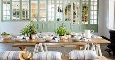 Beja Anglická sezóna Blue Plates, Salad Plates, Contemporary, Modern, Dinnerware, Costa, Stoneware, Table Settings, Ceramics
