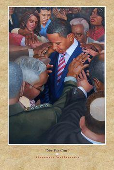 Prayer Painting with President Barack Obama