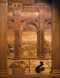 Intarsia Panel of a Terrace View From the Studiolo of Federigo da Montefeltro