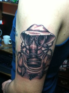 gas mask tattoo by ngoc50 traditional art body art body modification ...