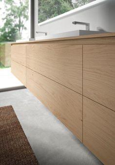 Meuble lavabo salle de bains de design italien par Idea Group | {Waschtischunterschrank freistehend 55}