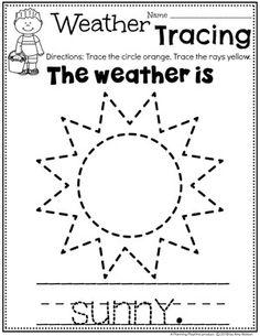 Preschool Weather Worksheets – Sunny Day Tracing Source by Weather Activities Preschool, Preschool Curriculum, Preschool Lessons, Preschool Classroom, Kindergarten Worksheets, Worksheets For Kids, Science Worksheets, Homeschooling, Tracing Practice Preschool